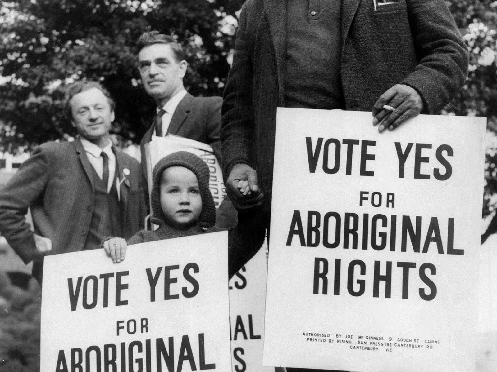 Bill Onus, President of the Victorian Aborigines' Advancement League May 1967 Photo Fairfax Syndicat