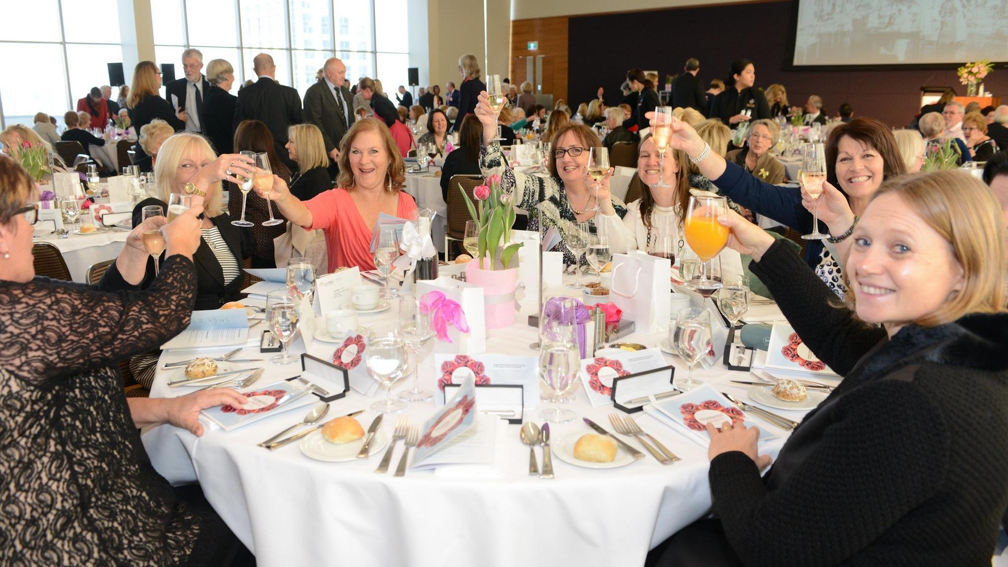 Attendees enjoying the Dame Elisabeth Murdoch Fundraising Luncheon