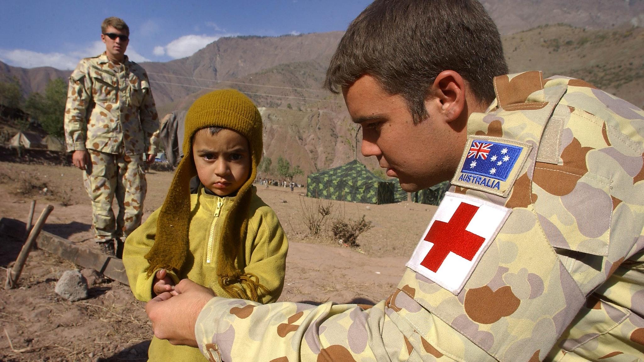 Private Robbie Keenan, an Australian Army medic deployed on OP Pakistan Assist