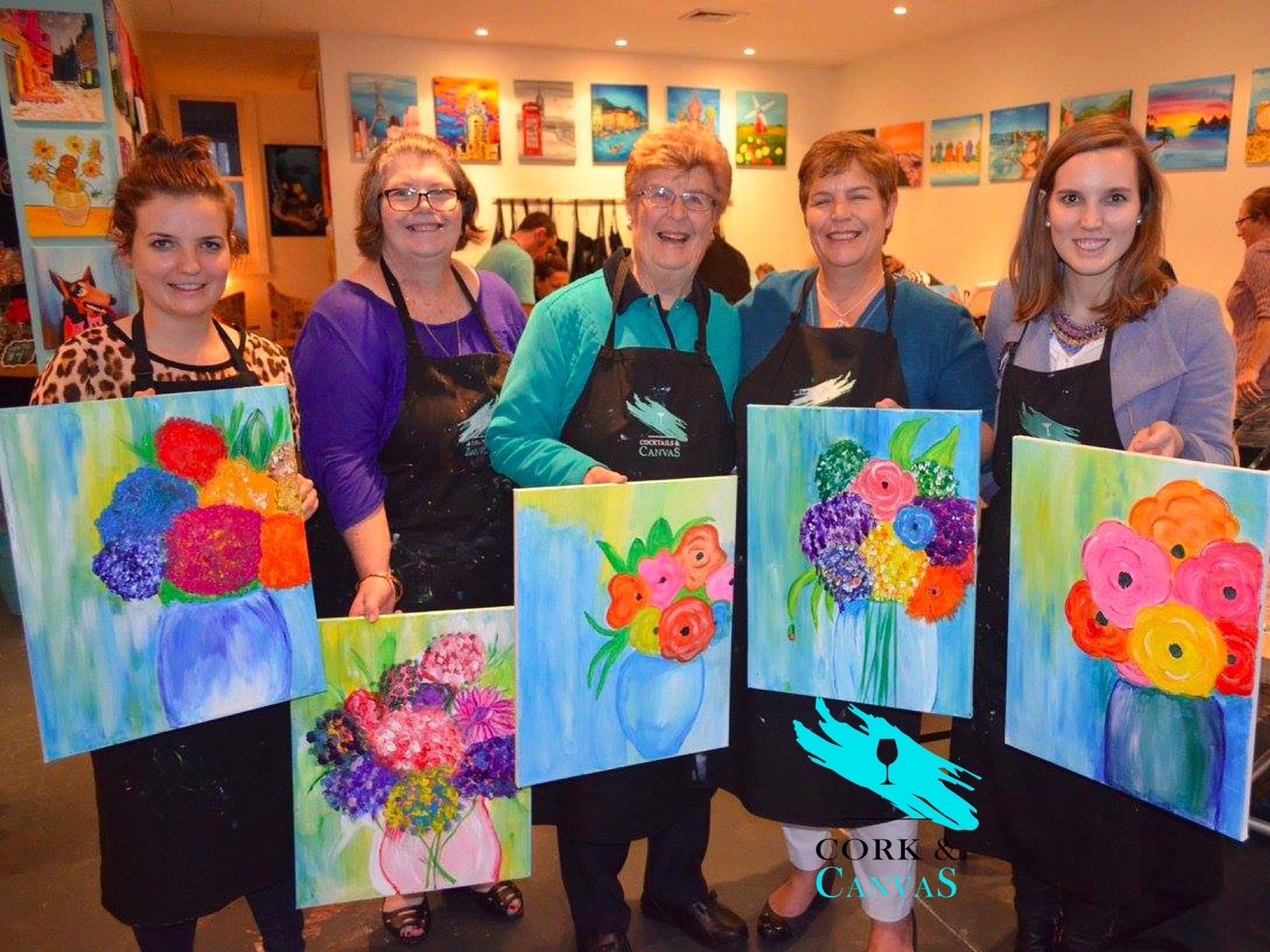 Mothers day paint and sip event
