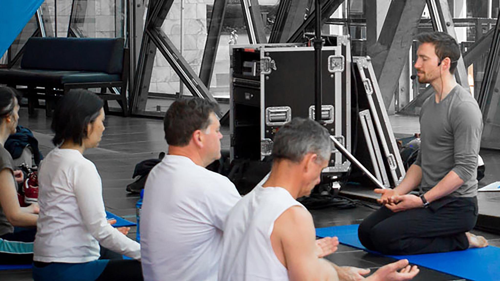Yoga at Fed Square