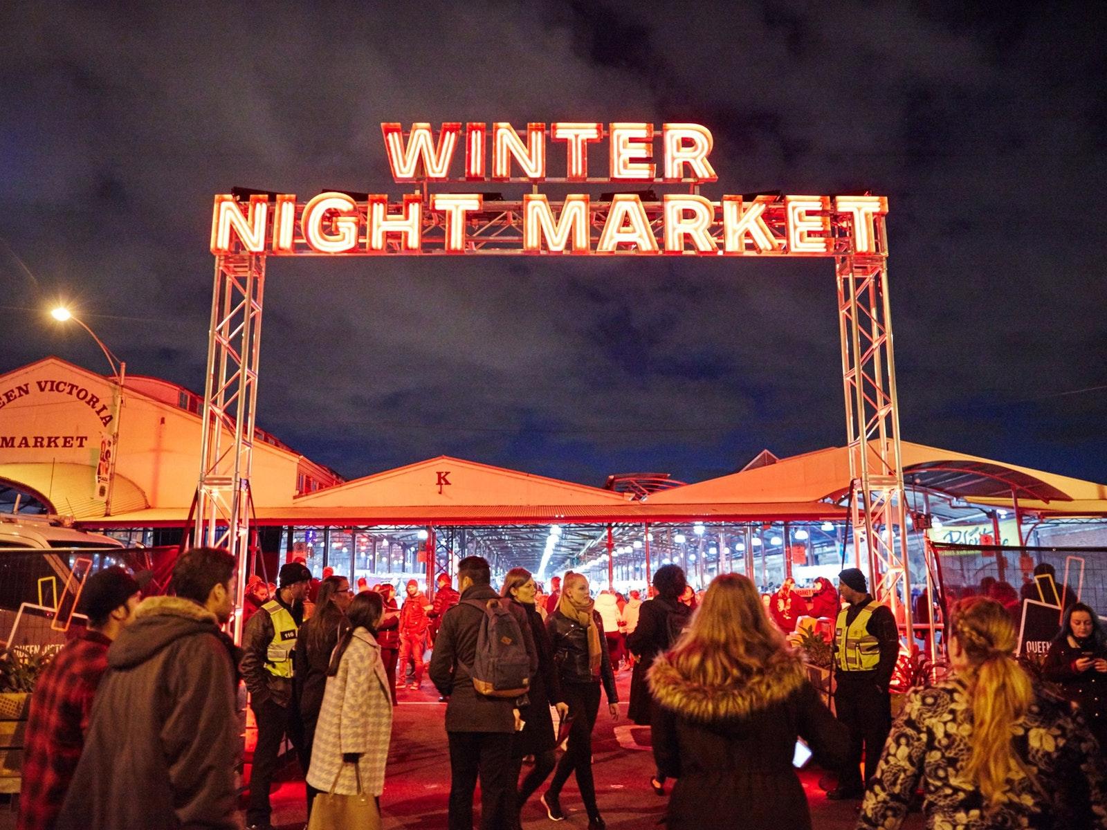 Winter Night Market Entrance