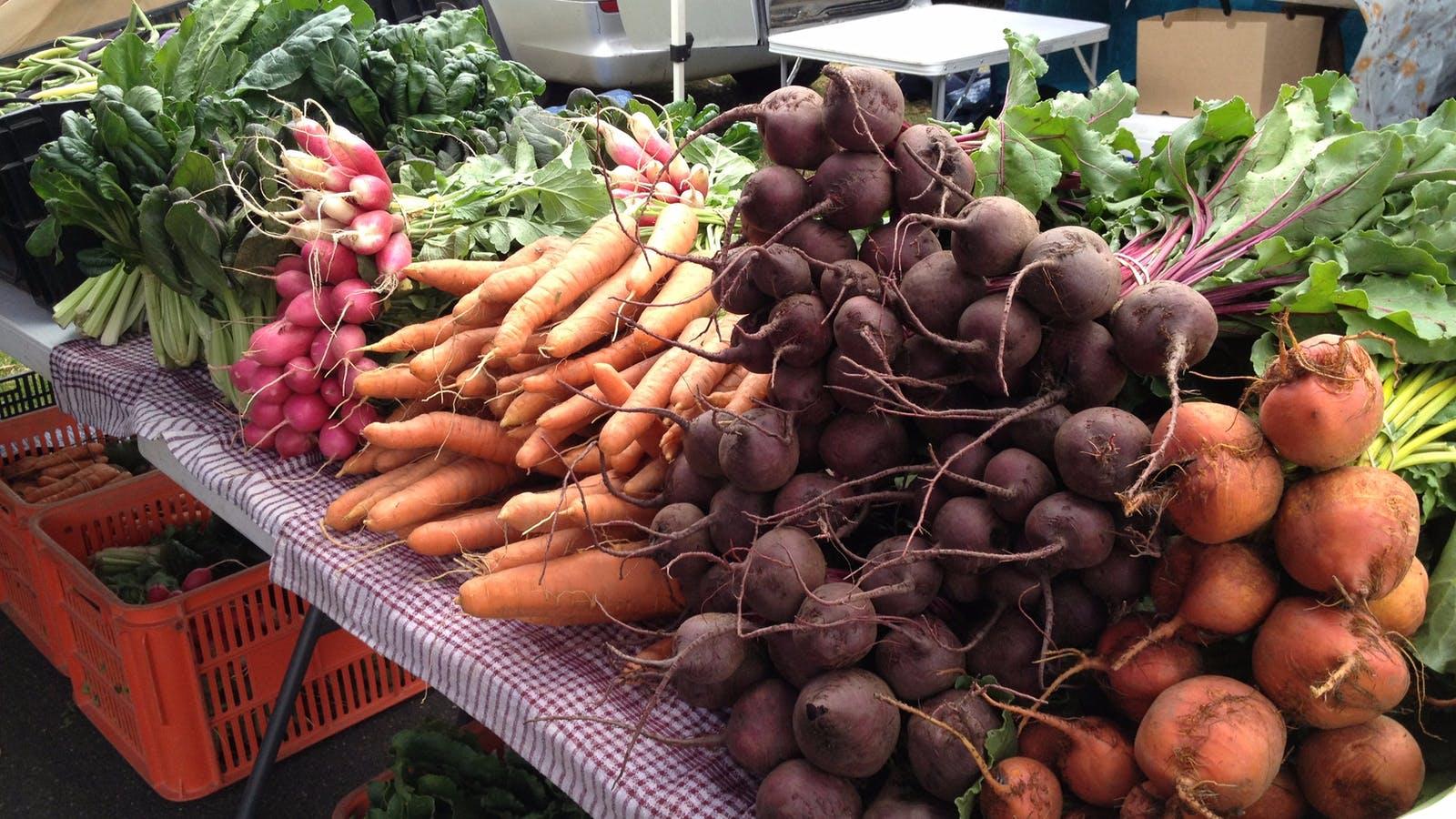 Fresh produce at Flemington Farmers market