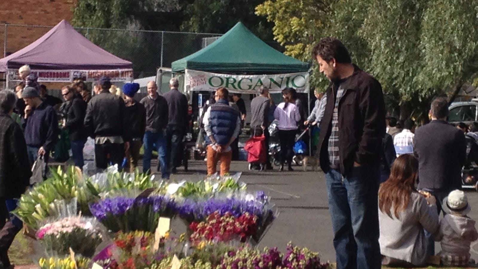Fresh flowers at Flemington Farmers Market
