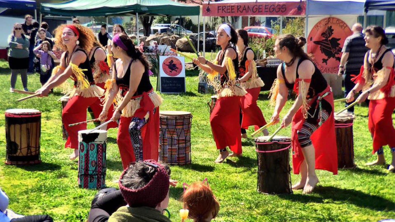 entertainment at Coburg Farmers Marketa