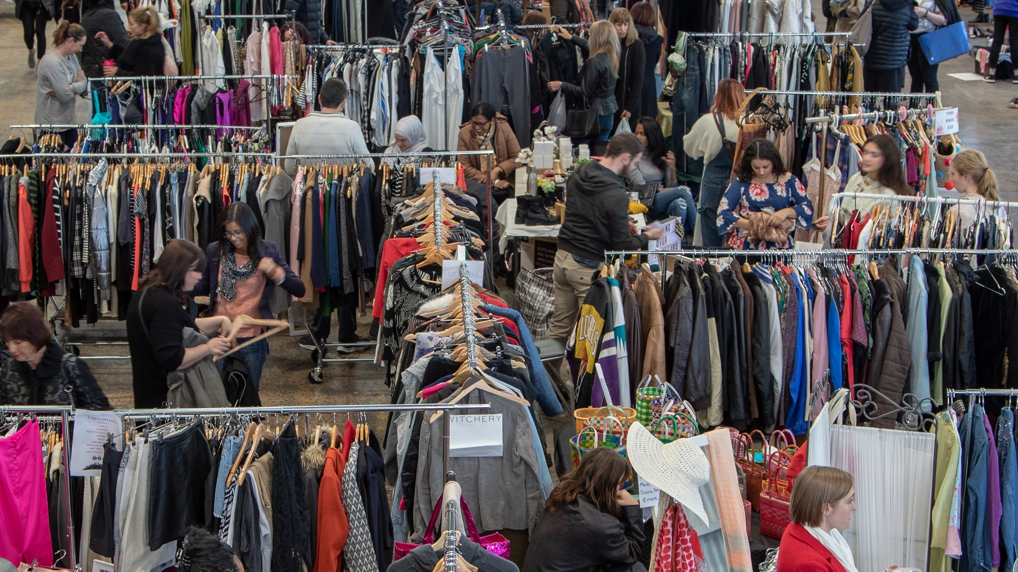 7cf6c2550b3d Indoor market of more than 60 stalls selling women's pre-loved fashion and  accessories.
