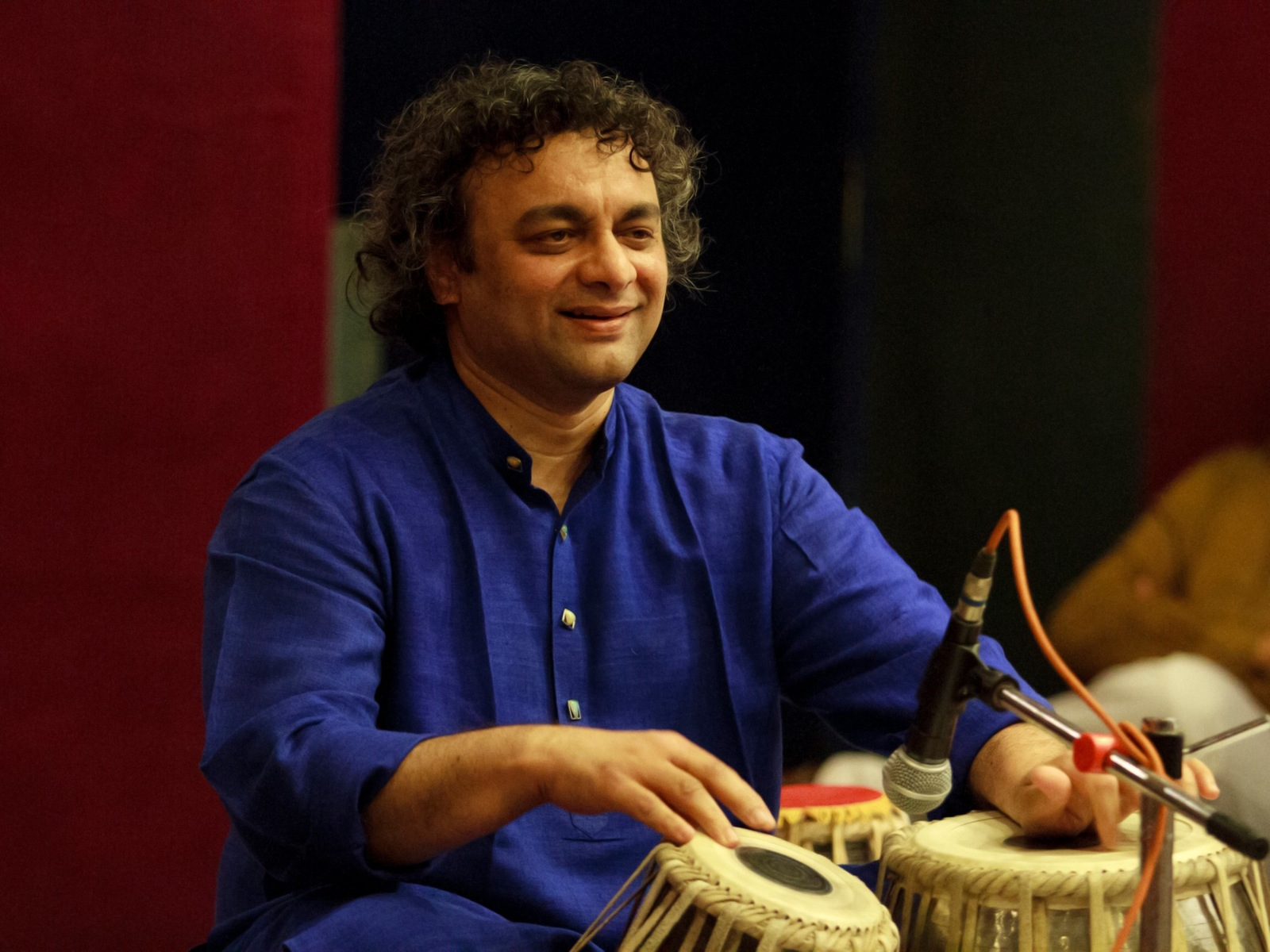 A performance by Aneesh Pradhan with Sudhir Nayak and Dr Adrian McNeil