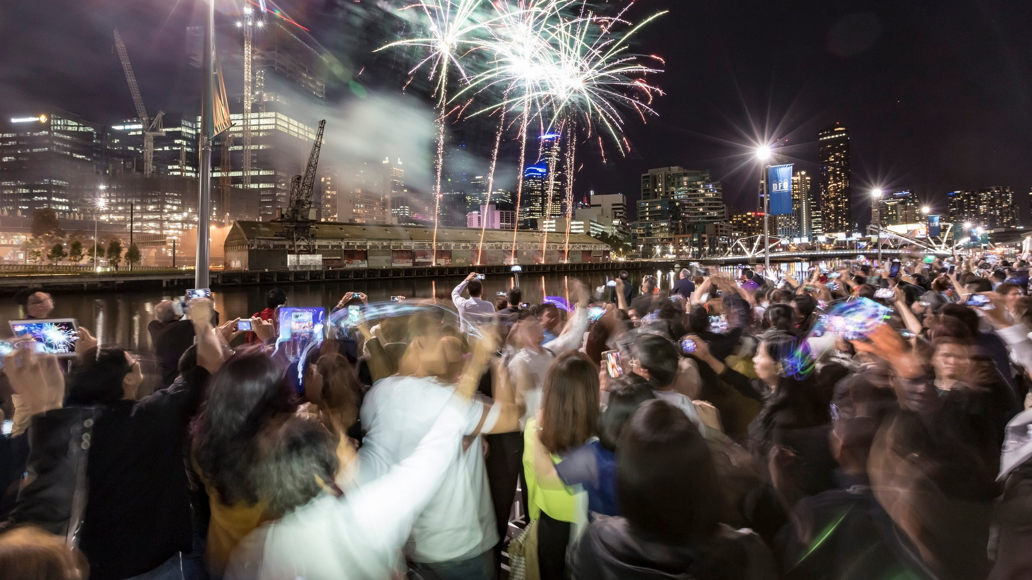 New Years Eve on South Wharf