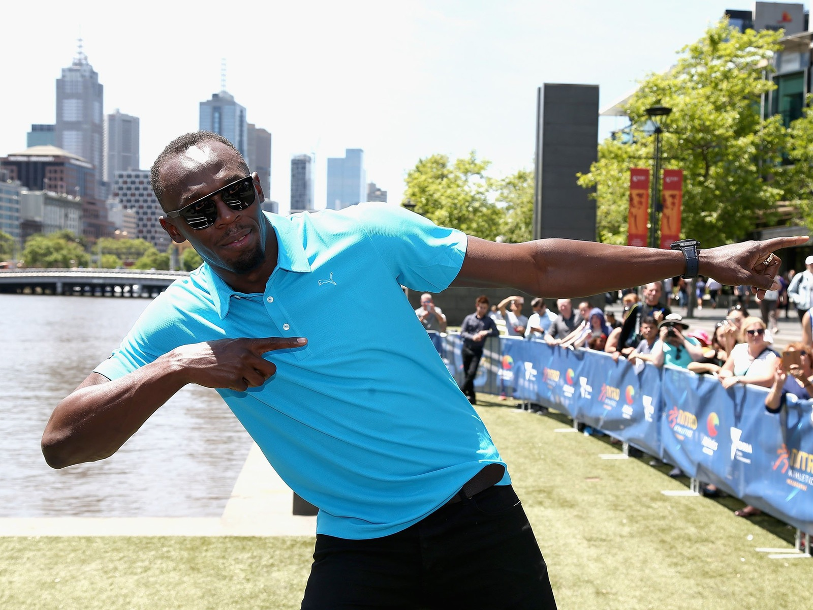 Usain Bolt brings the lightning to the Nitro Athletics Launch