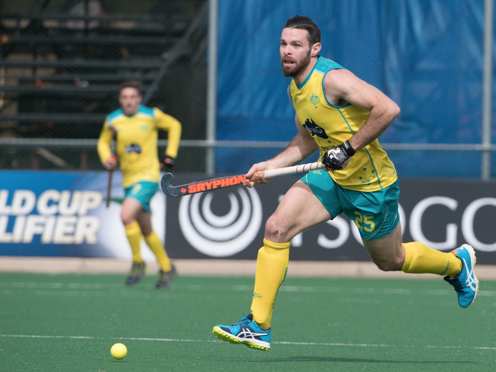 Trent Mitton playing for Australia
