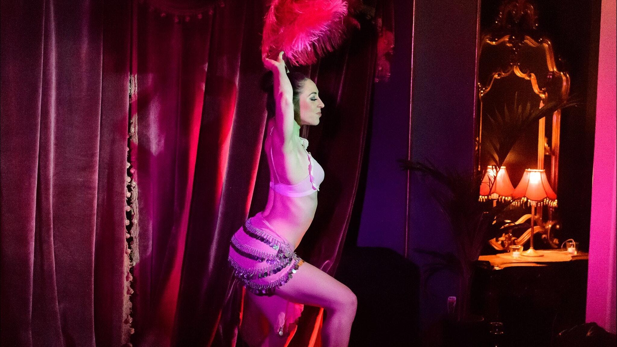 Burlesque at The Vault Theatre Melbourne.