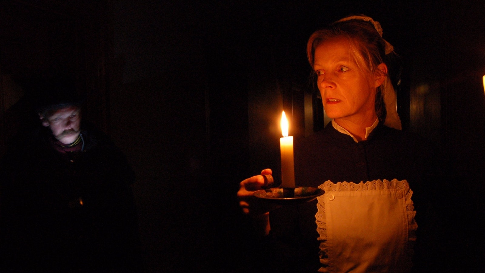 Maggie with candle