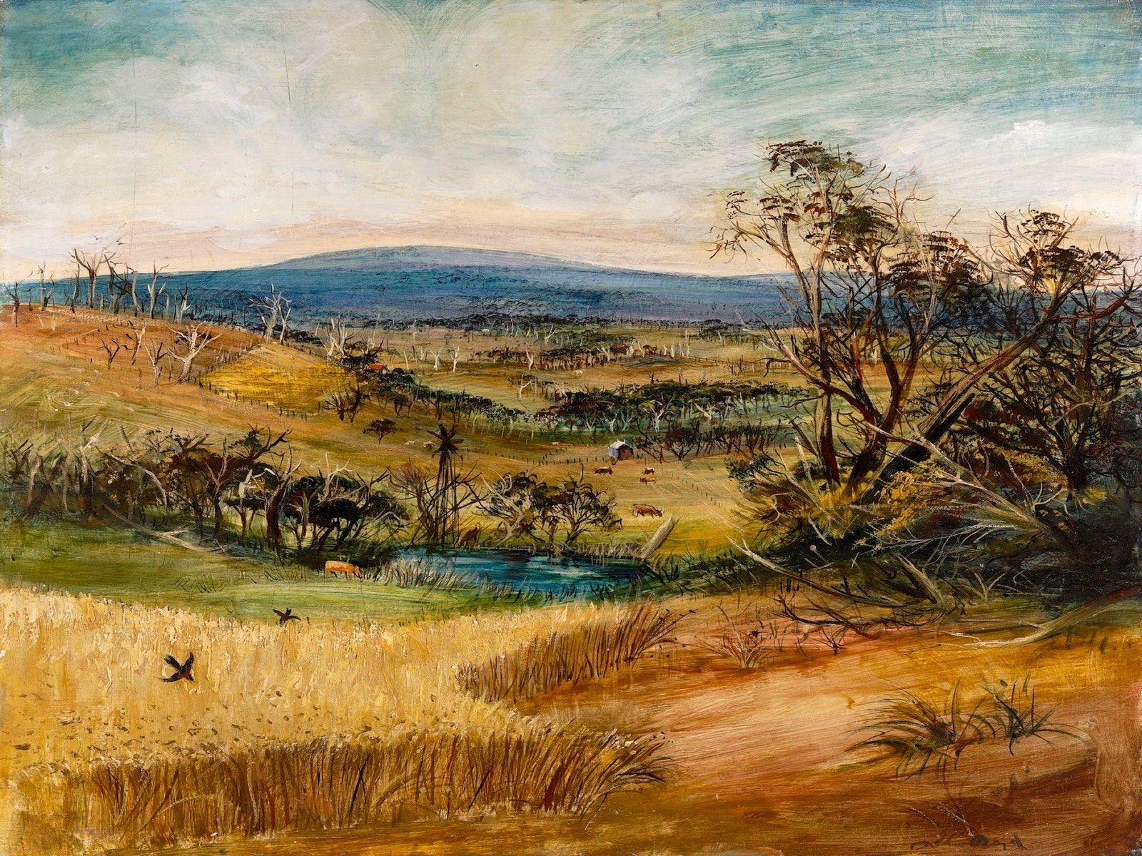 Arthur Boyd, The Wheatfield (1948)
