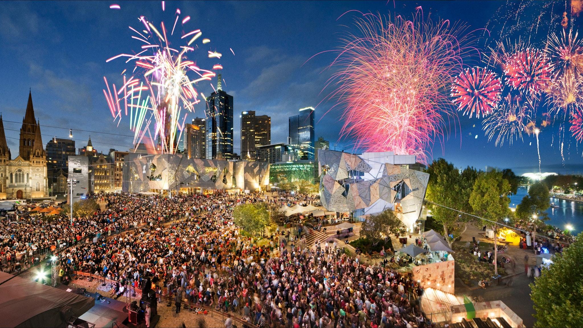 Federation Square, Attraction, Melbourne, Victoria, Australia