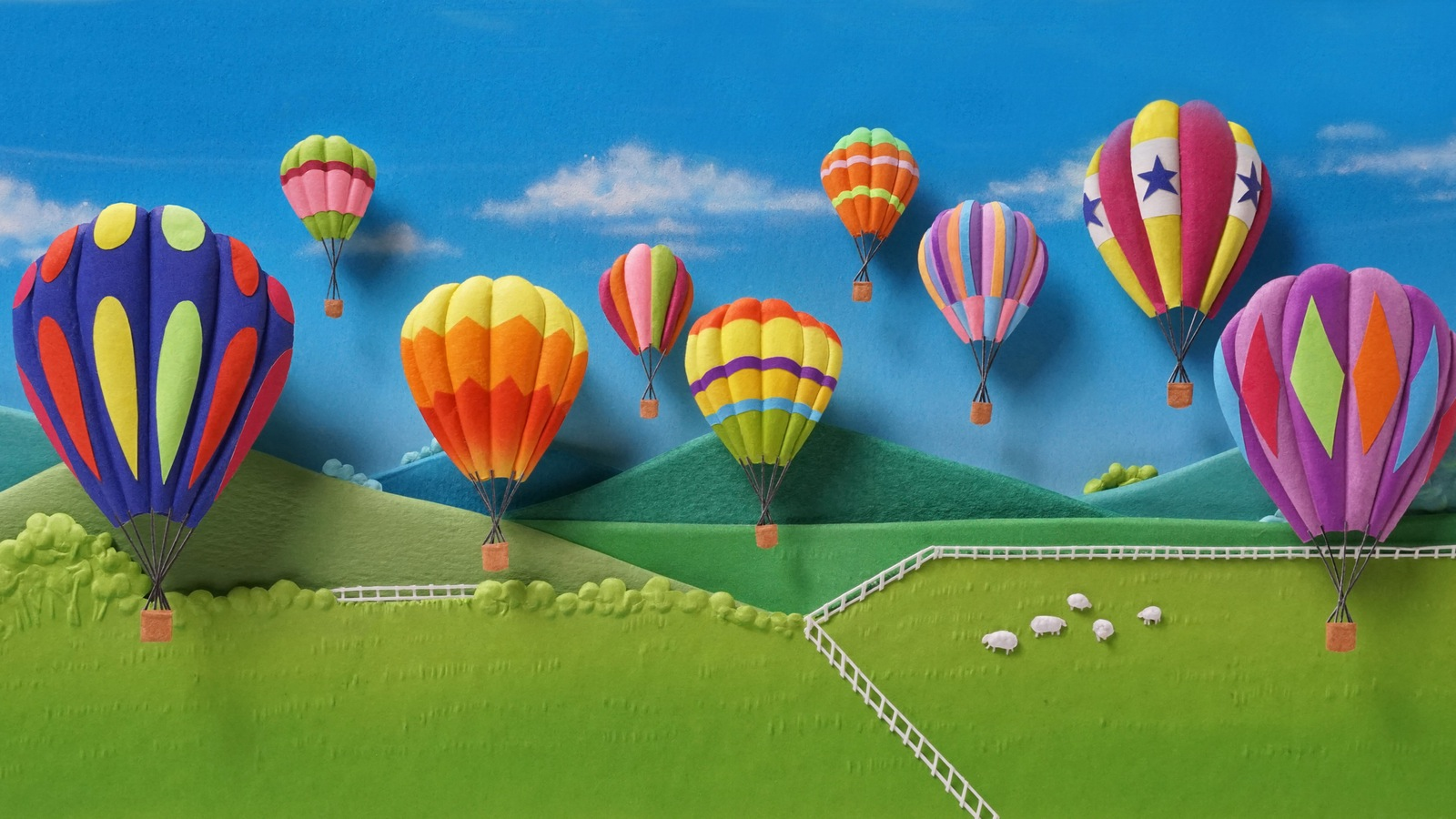 """""""Balloons over Yarra Valley"""". 20 x 11 cm. Small compared to some sculptures but a public favourite"""