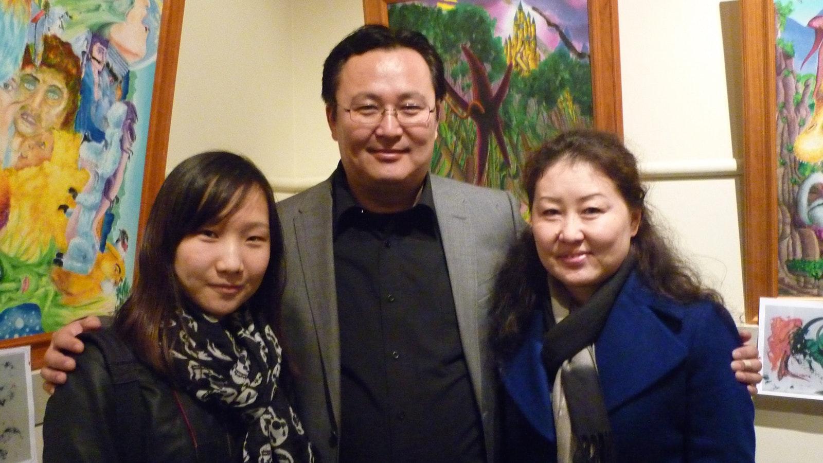 Ariunbold Adiya and Family