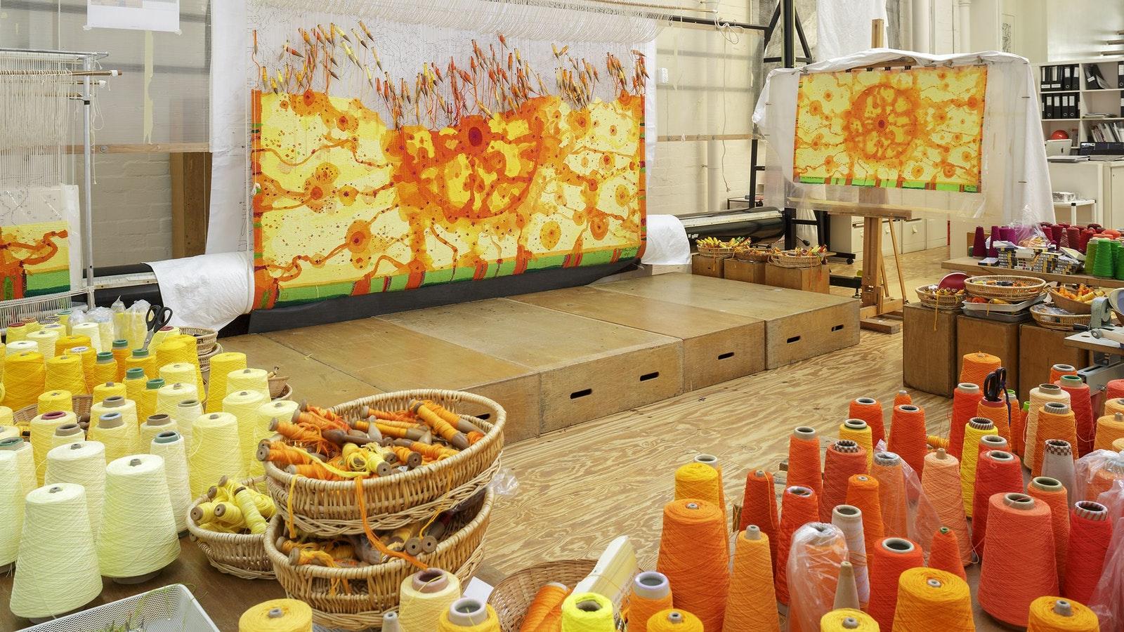 On the Loom:  Sun Over the You Beaut Country, 2014   Artist:  John Olsen AO OBE