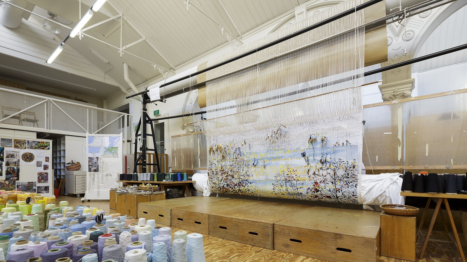 On the Loom:  Avenue of Remembrance, 2015  Artist: Imants Tillers