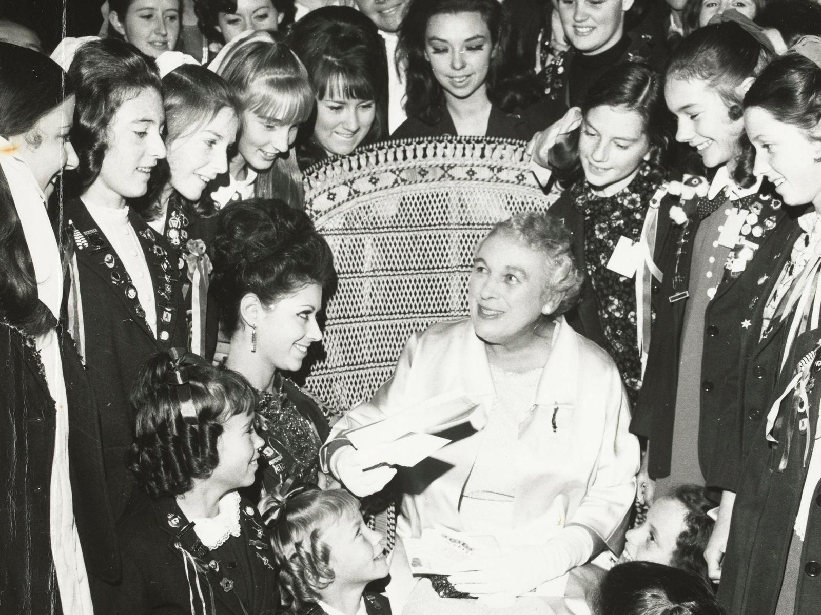 Miss Hopton's 50th-anniversary celebration, silver gelatin photograph, 1965, Vera E Hopton Papers
