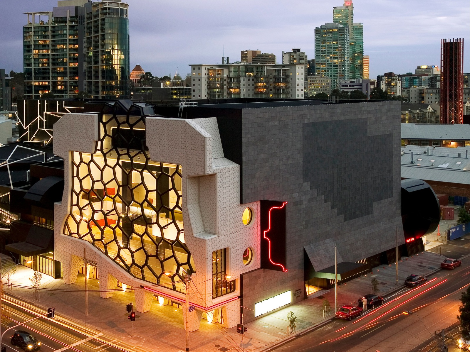 Melb Recital Centre Exterior Night