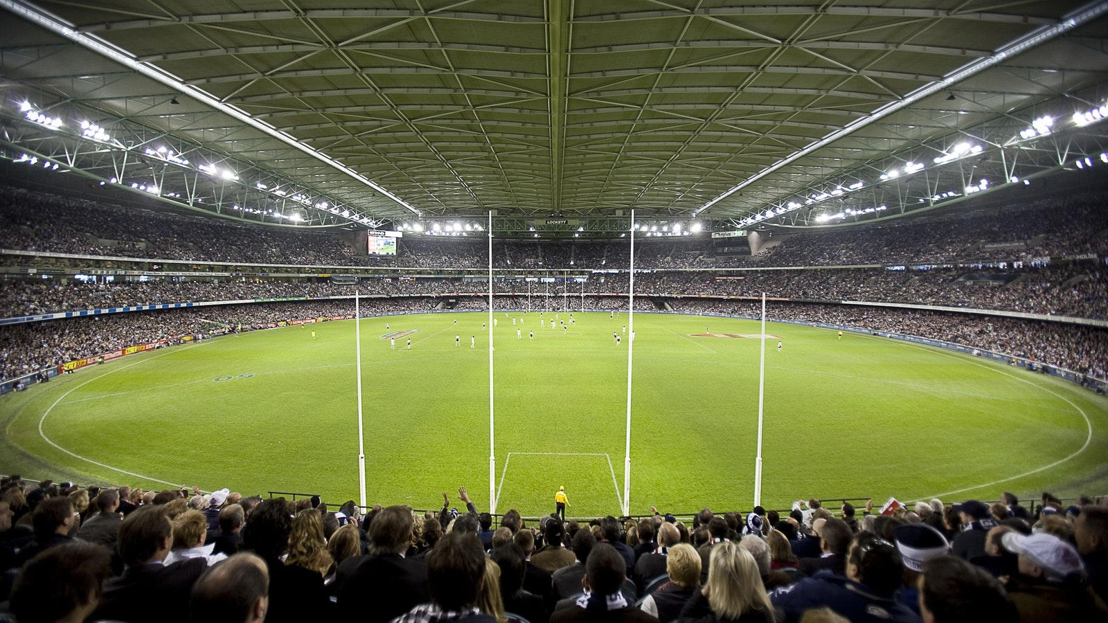 Etihad Stadium during an AFL match