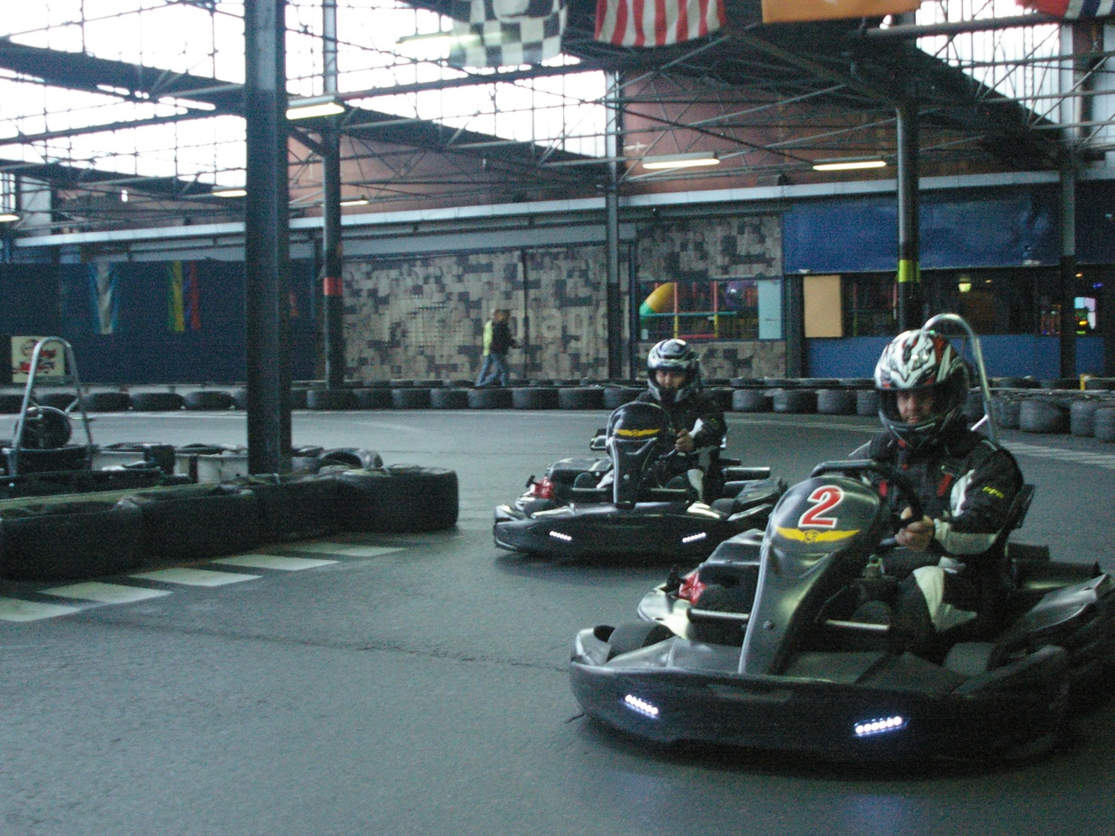 Go Kart Racing indoors, Huge indoor racetrack built for groups and families