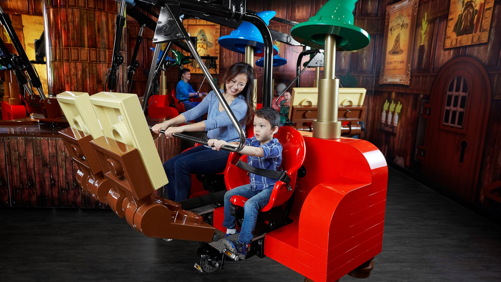 Pedal the enchanted cart in Merlin's magical potions chamber to become his next wizarding apprentice