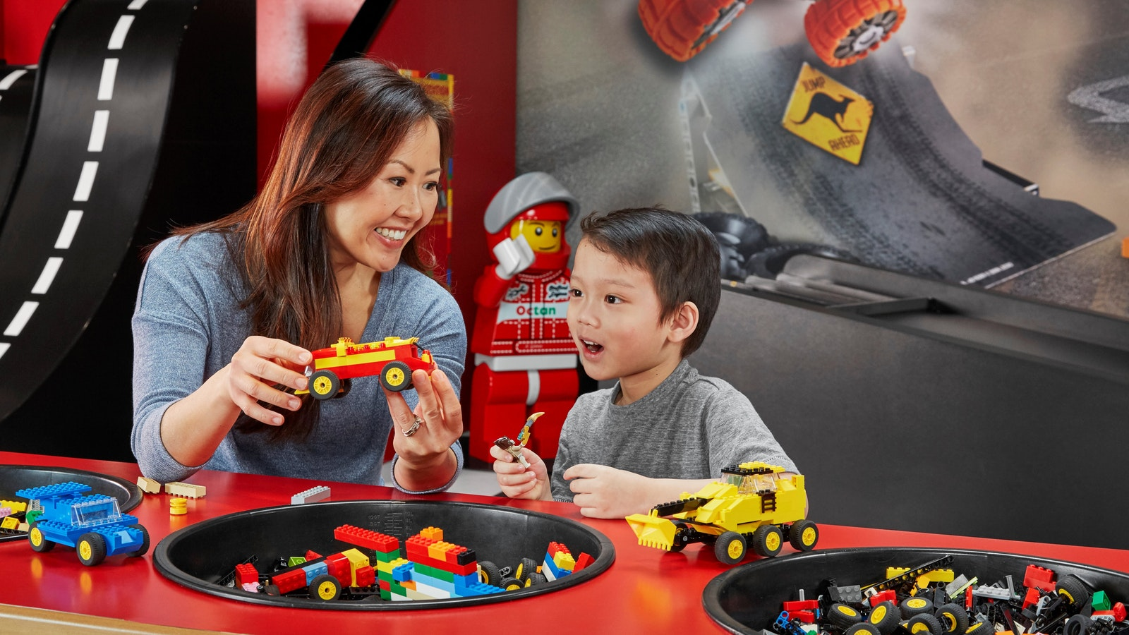 Race your vehicle on the test track for the quickest time – will your car zoom across the line?
