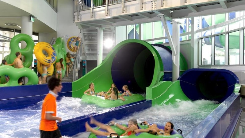 Waterslide landing area