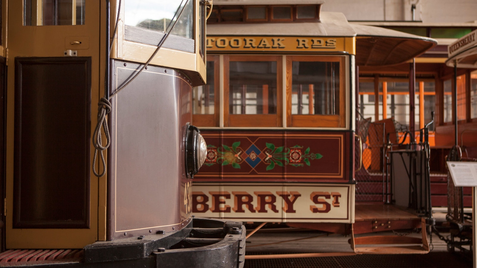 Heritage trams at the Melbourne Tram Museum
