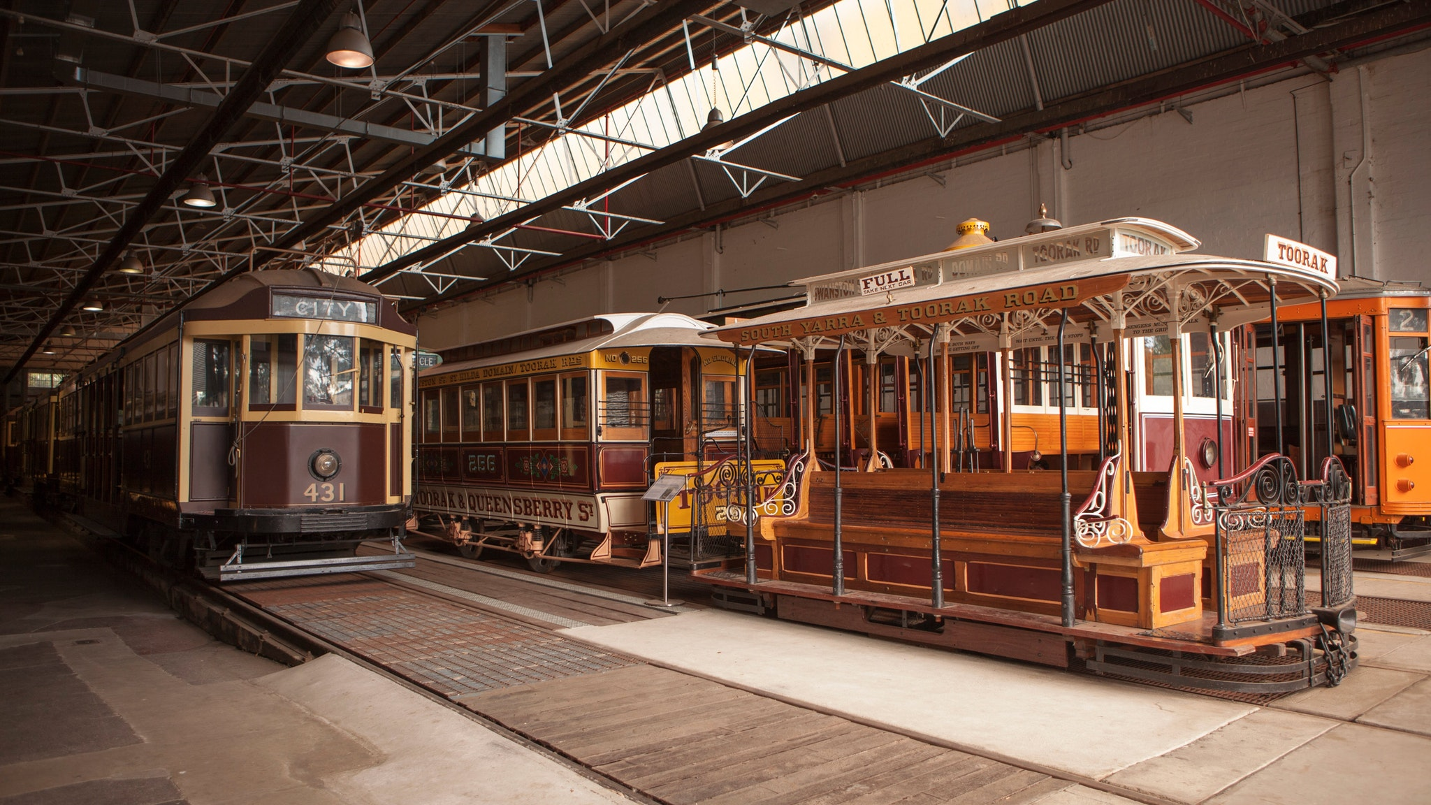 Photographs of vintage Melbourne Tramcars