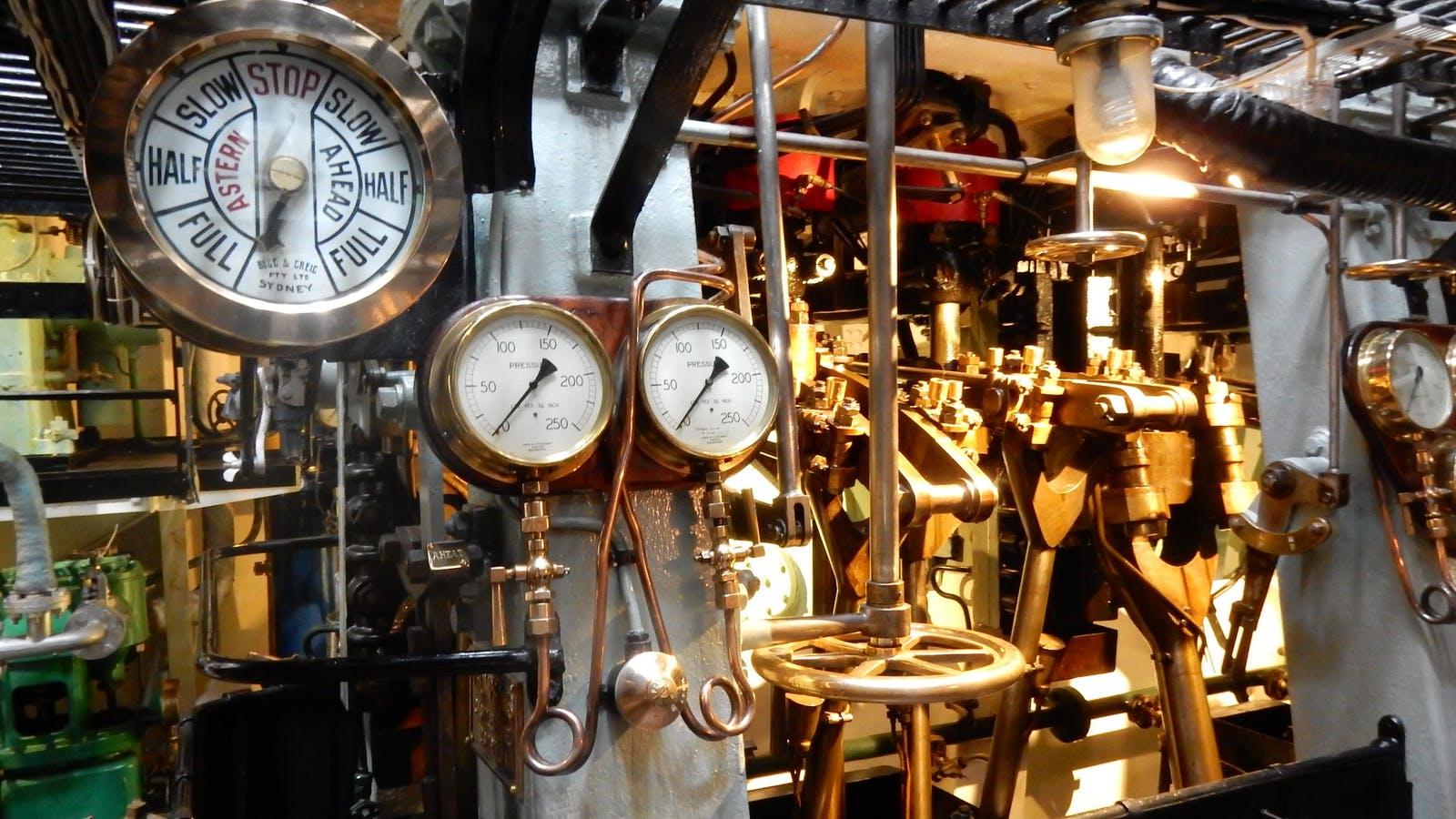 HMAS Castlemaine Museum Ship Engine Room