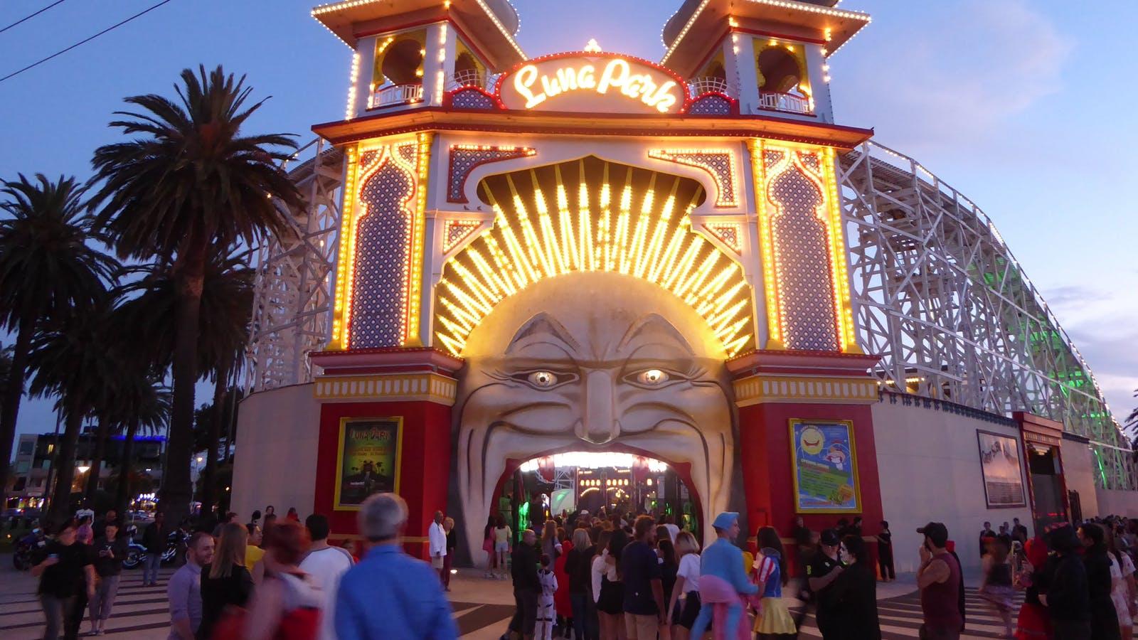 Entrance of Melbourne's Luna Park