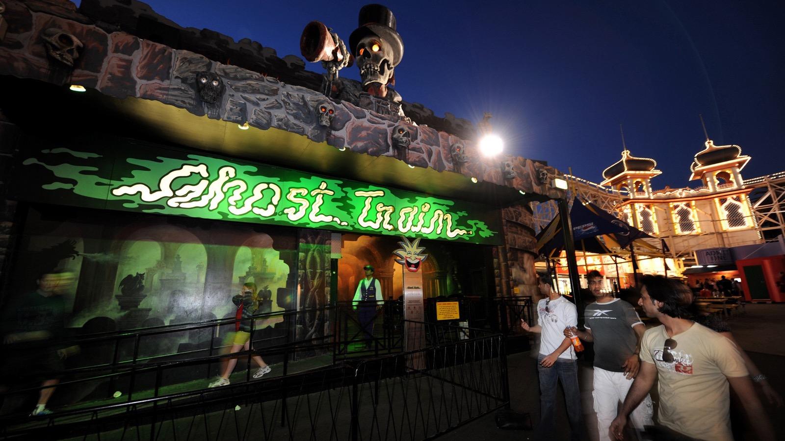 Spooky funon the Ghost Train