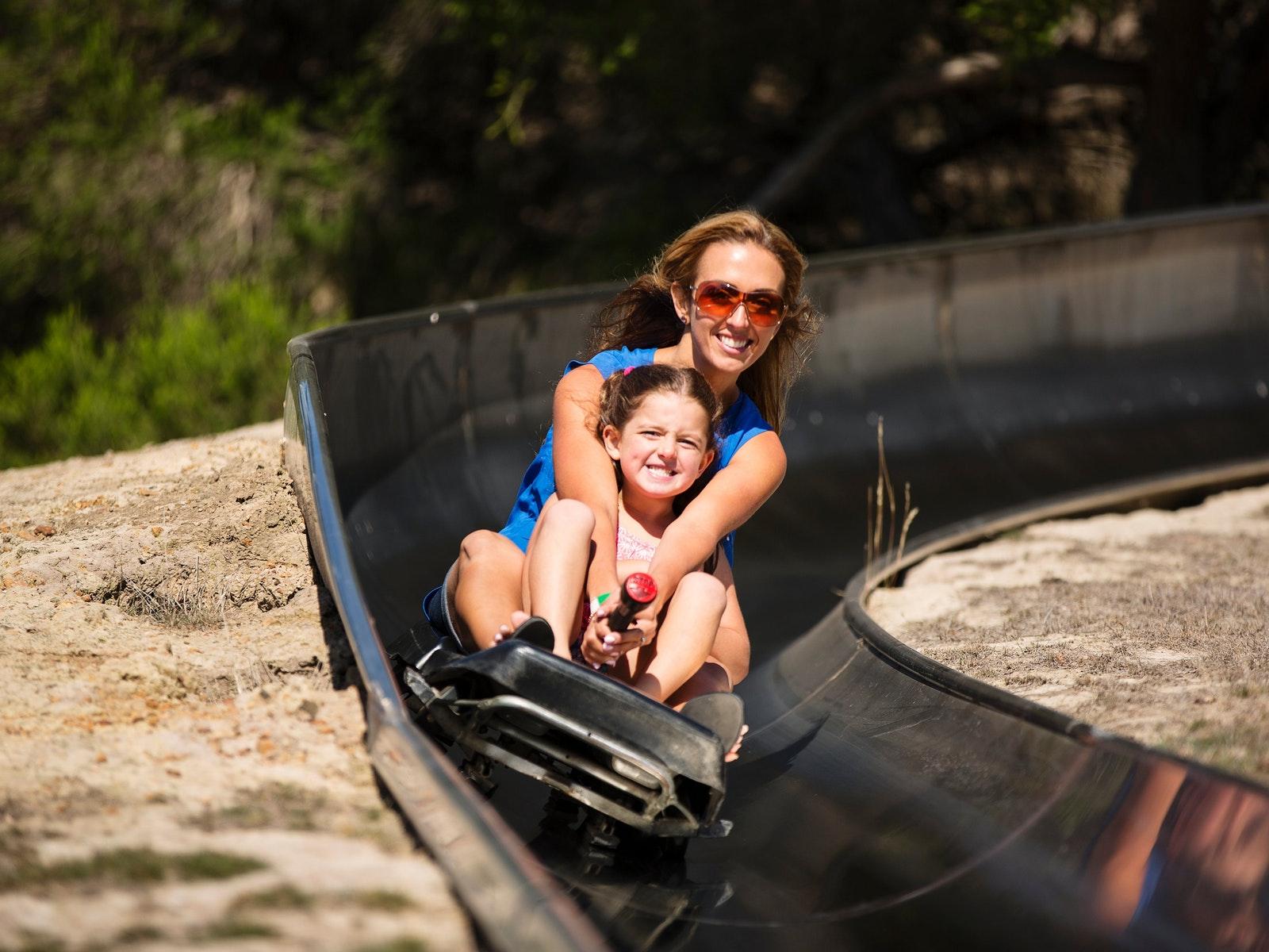 Toboggan slide, summer fun