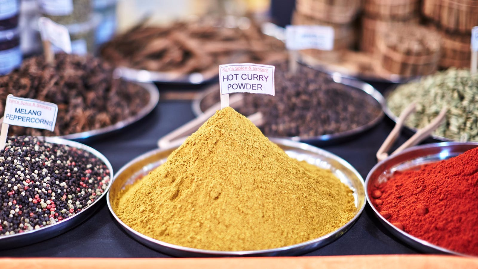 Delicious spices from Sam's Spice & Grocery