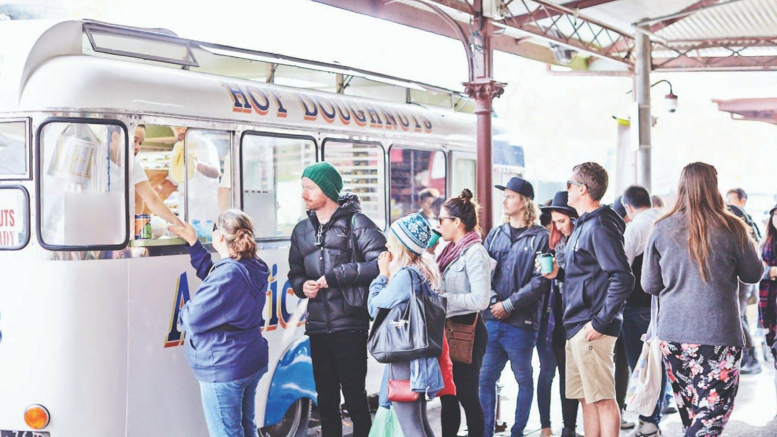 Queen Victoria Market - American Donut Van