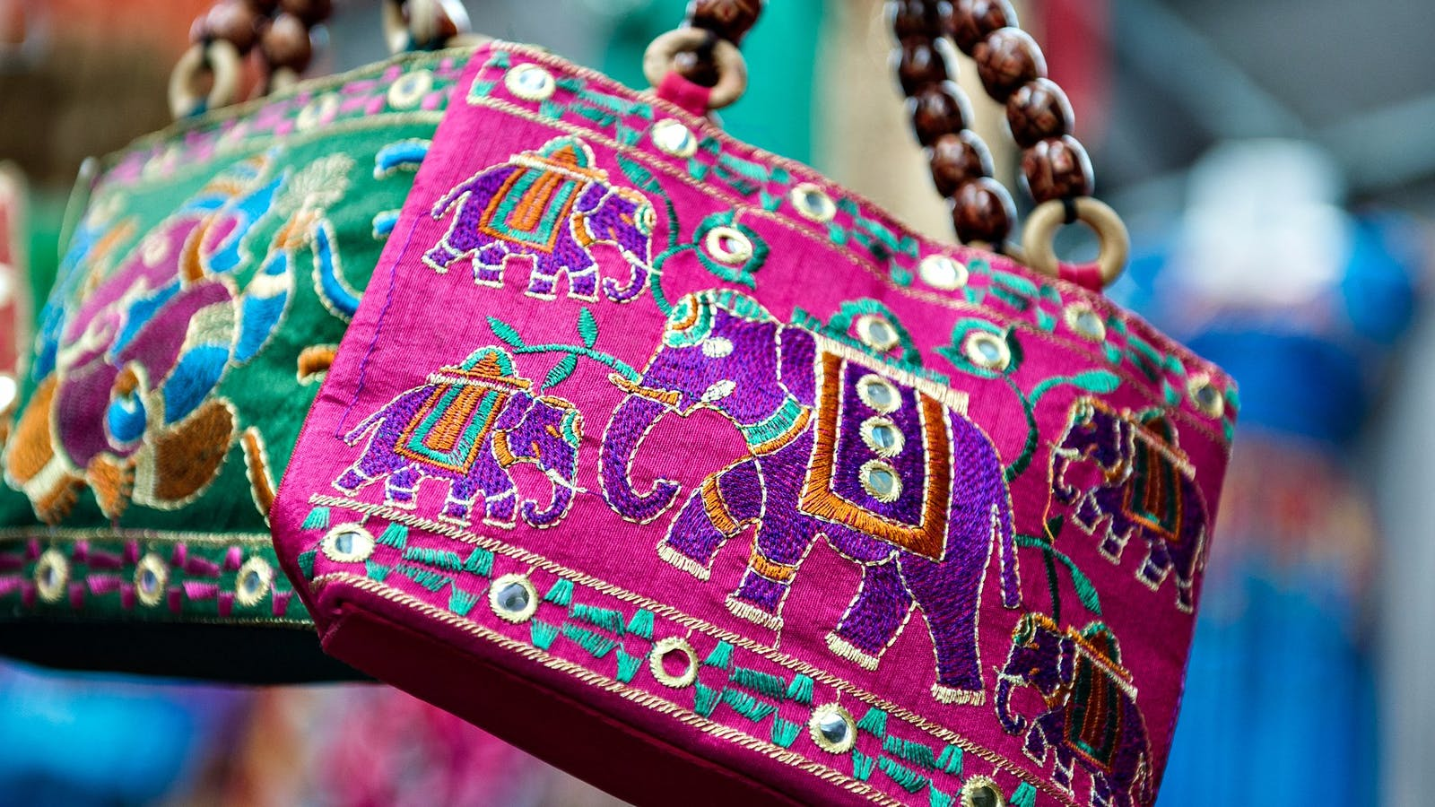 Hand-stitched bag from the Bazaar at Dandenong Market