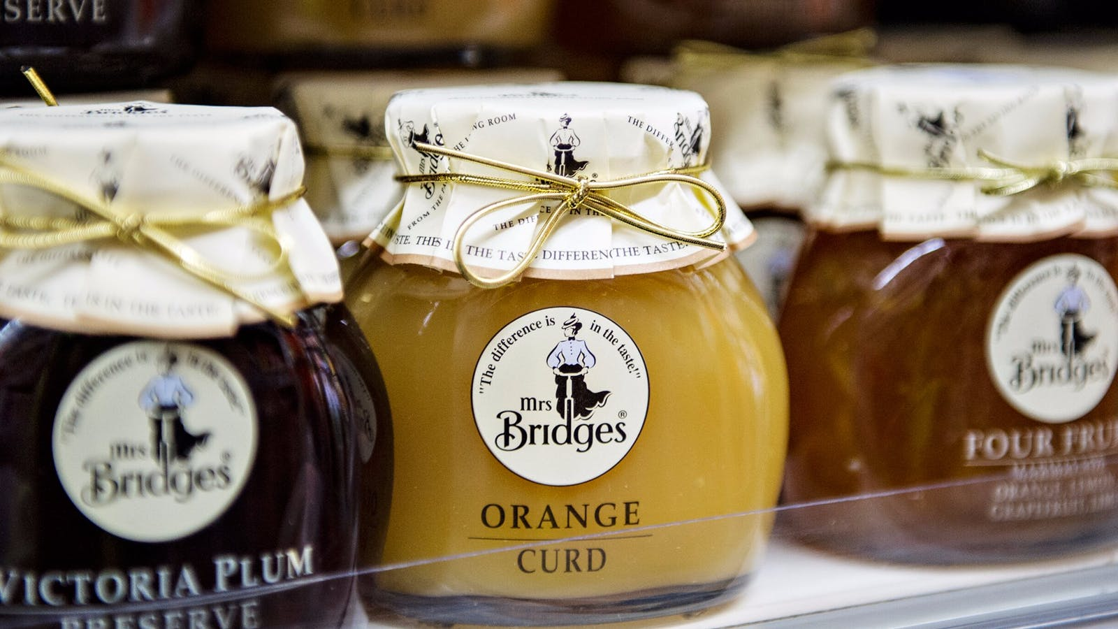 Mrs Bridges Organge Curd from the Meat, Fish & Deli Hall