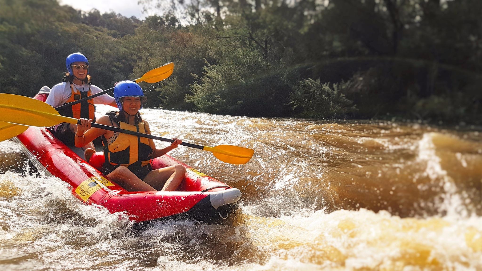 Whitewater kayaking Yarra river