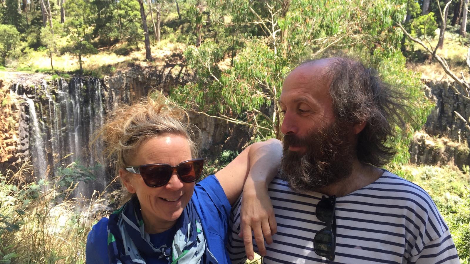 Happy couple at Trentham Falls