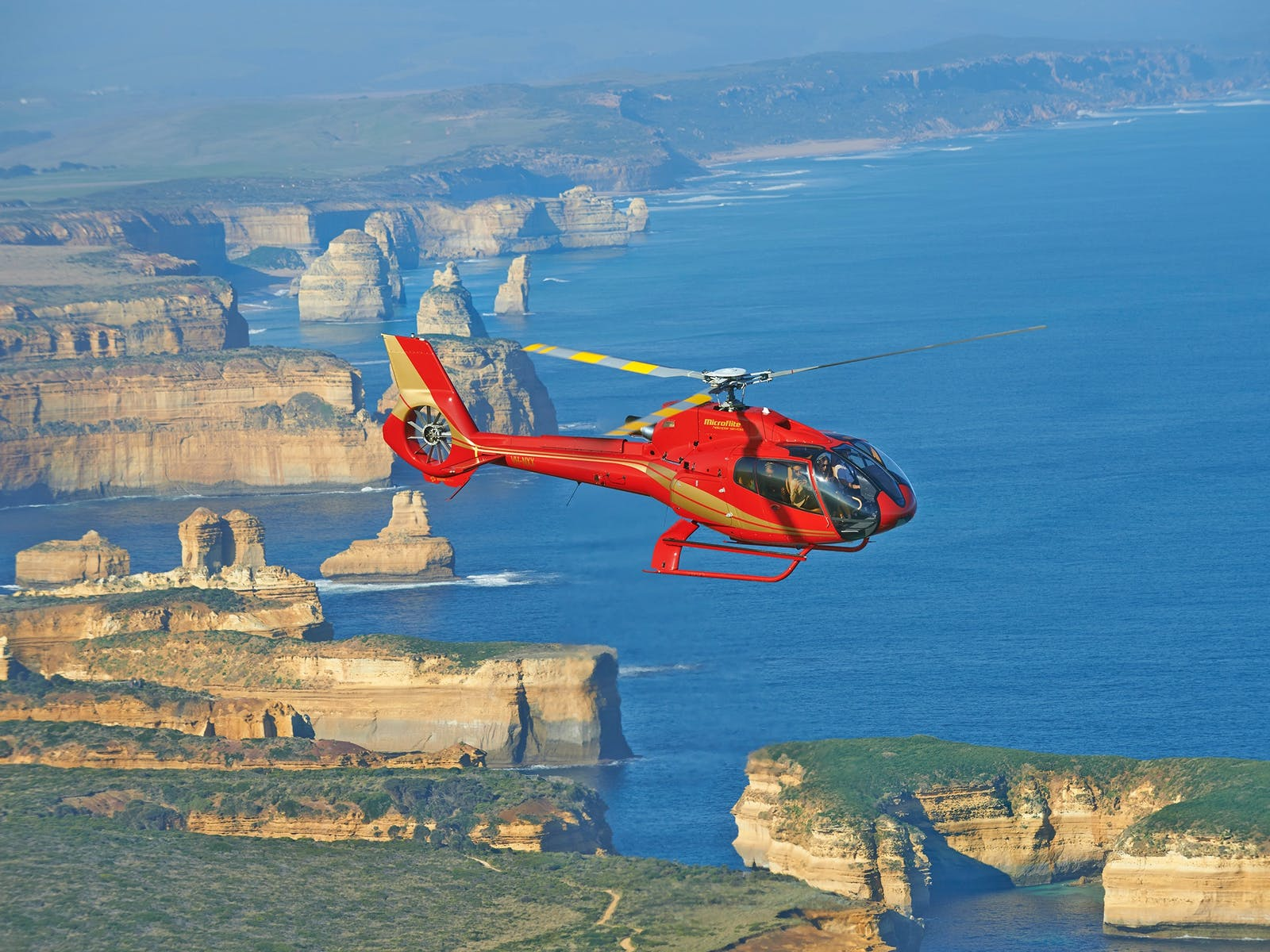 Take the scenic route and visit the 12 Apostles in a helicopter