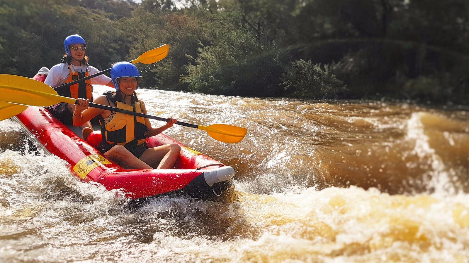 Sports rafting yarra river