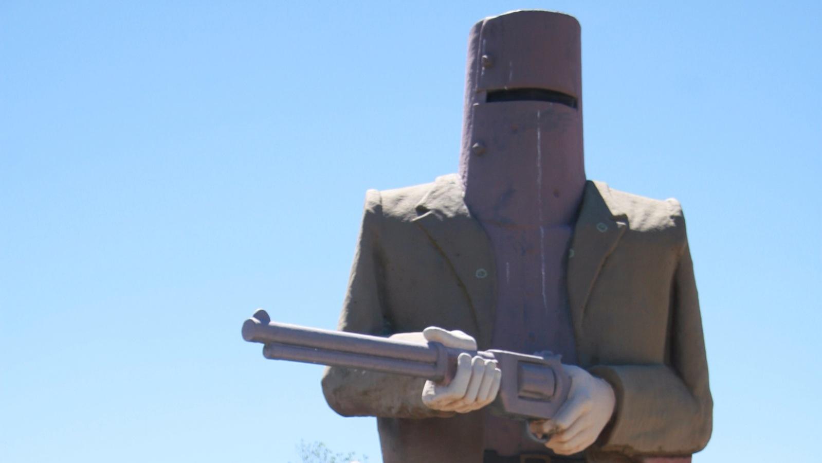 Statue of Ned Kelly at Glenrowan