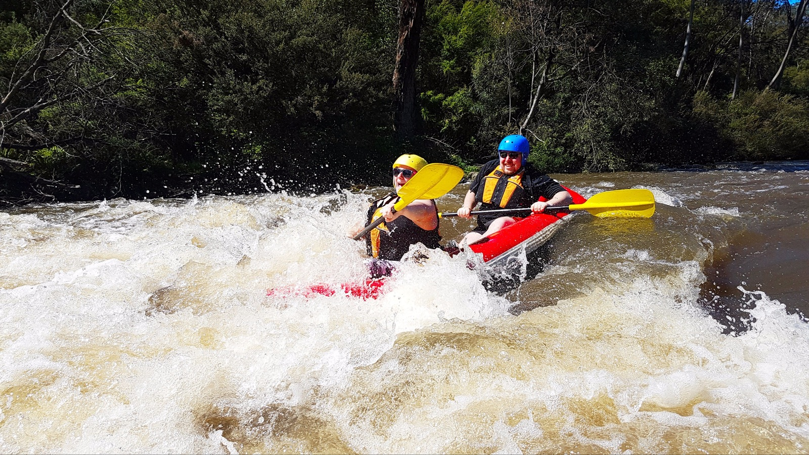 Sports rafting Yarra river Melbourne