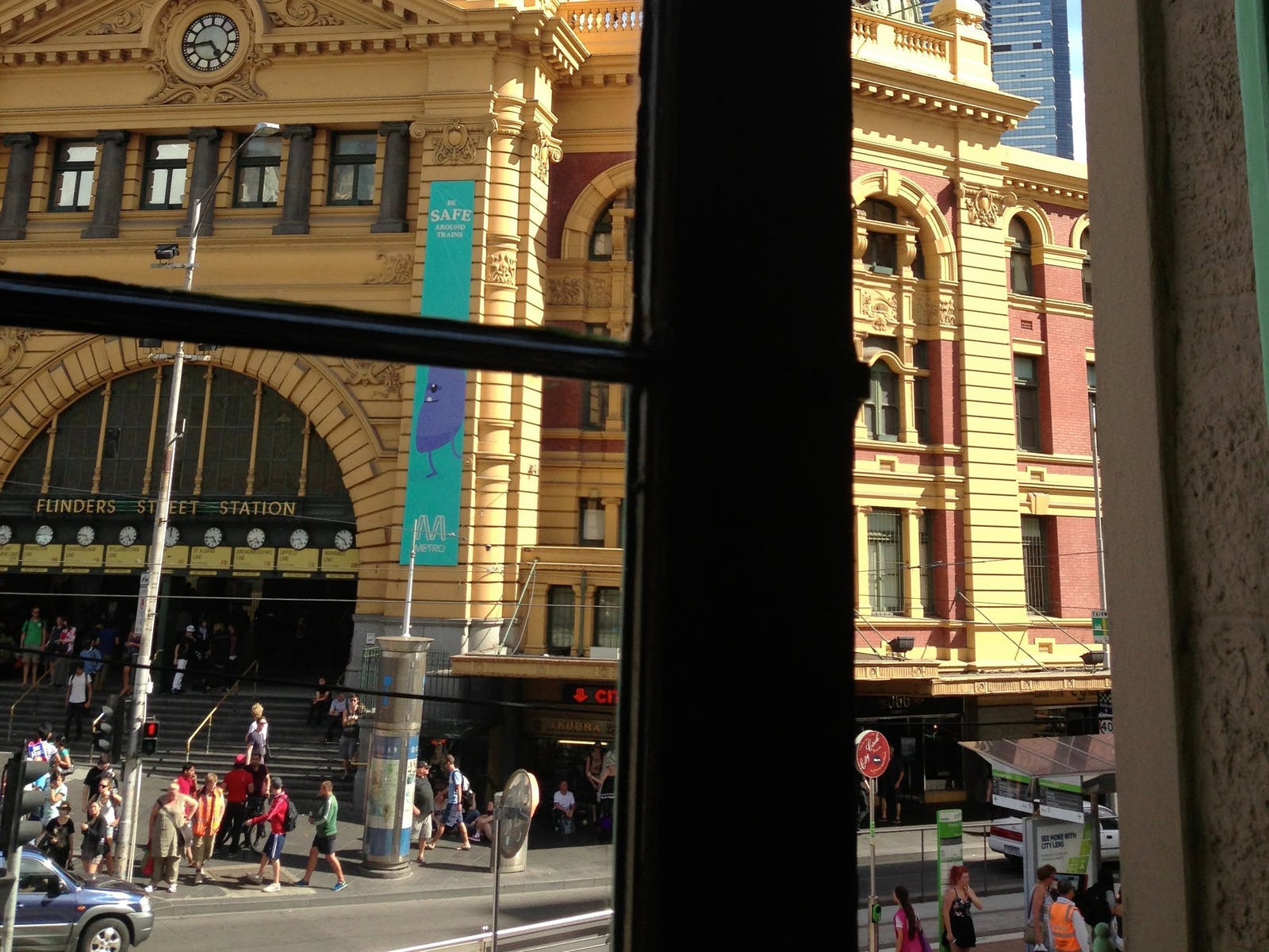 Melbourne's most famous intersection at Flinders Street Station.