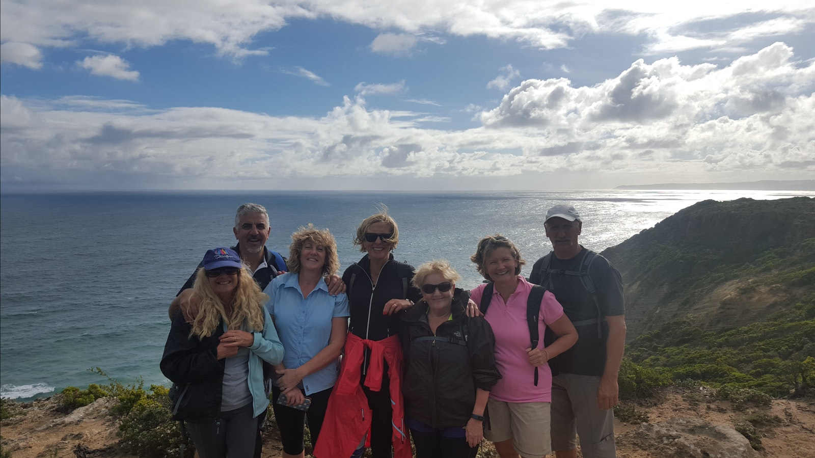 Group shot taken on the Great Ocean Walk near Aire River