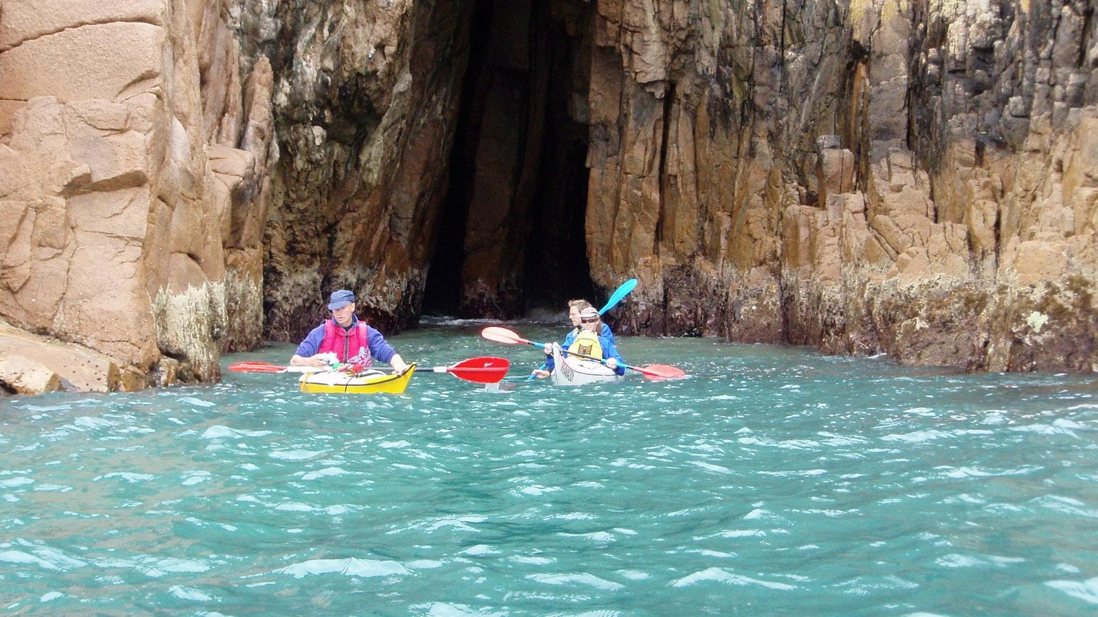 Sea kayaking and sailing Phillip island