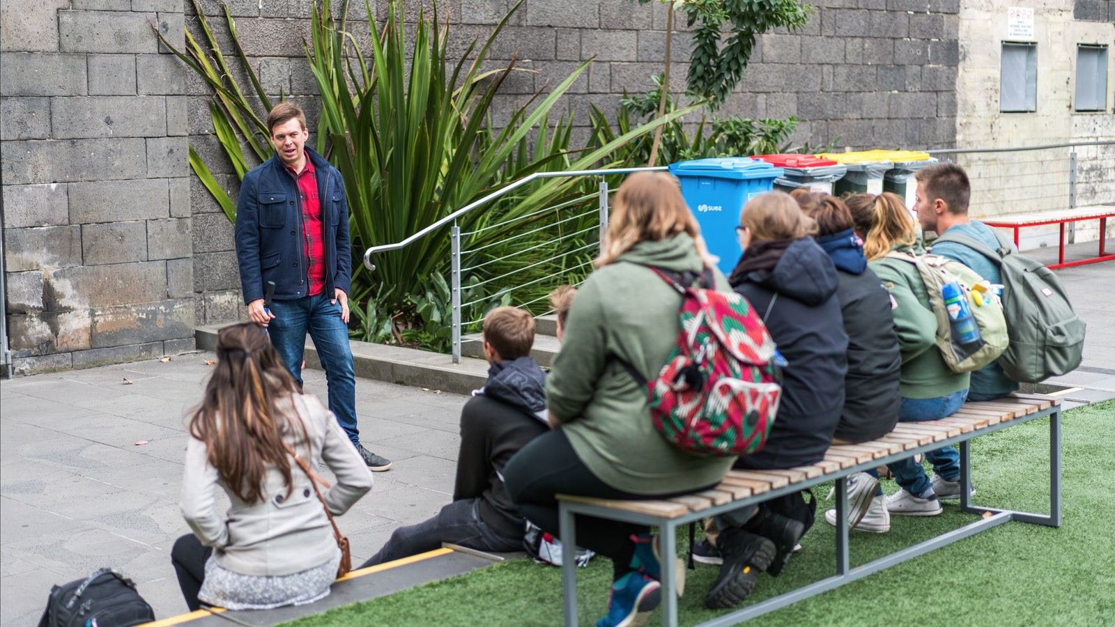 Telling the story of Ned Kelly at the Old Melbourne Gaol during the free tour