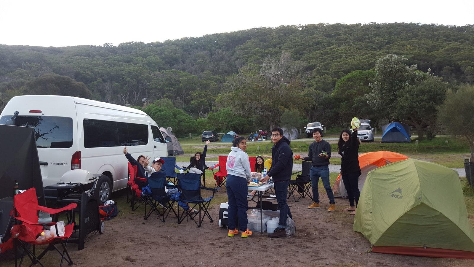 Camping at Tidal River